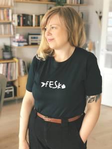 Bilde av T-skjorte Fesk -blå